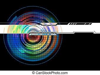 abstratos, tecnologia, coloridos, fundo