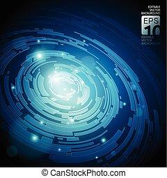 abstratos, tecnologia, escuro azul, fundo, vetorial