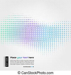 abstratos, tecnologia, fundo, com, quadrado, formas