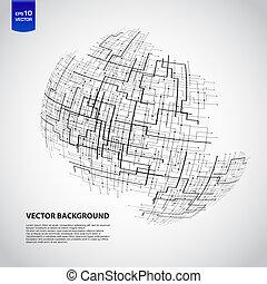 abstratos, tecnologia, globo