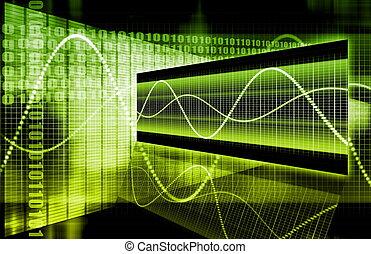 abstratos, tecnologia, negócio