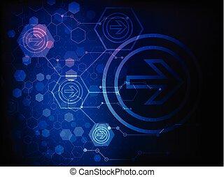 abstratos, tecnologia, negócio, fundo