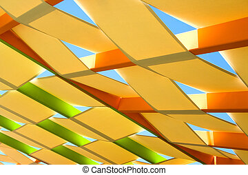 abstratos, telhado