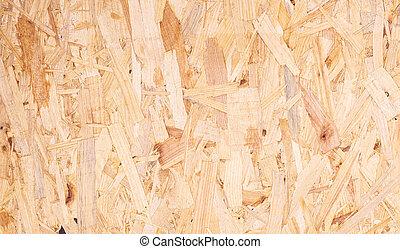abstratos, textura, reciclado, fundo, comprimido, madeira, tábua, fim, chippings, cima