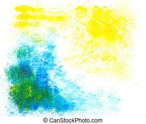 abstratos, texturas, grande, aquarela, experiência., vindima, mão, desenhado, design.