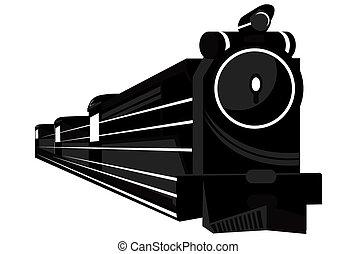 abstratos, trem, estilo