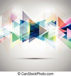 abstratos, triângulos