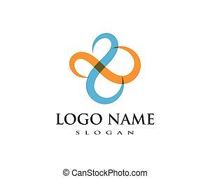 abstratos, unidade, vetorial, logotipo, desenho