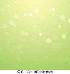 abstratos, verão, fundo, bokeh, com, defocused, luzes