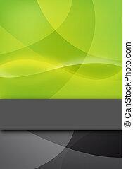 abstratos, verde, desenho, com, texto, barzinhos