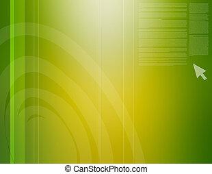 abstratos, verde