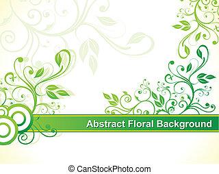 abstratos, verde, floral, fundo