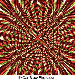 abstratos, verde, linha, fundo, vermelho