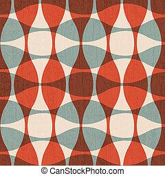 abstratos, vermelho, curvas, seamless