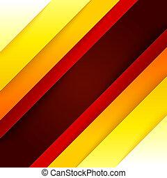abstratos, vermelho, e, retângulo alaranjado, formas