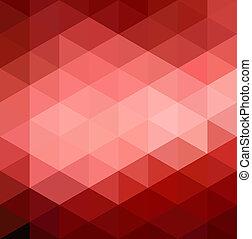 abstratos, vermelho, geométrico, fundo
