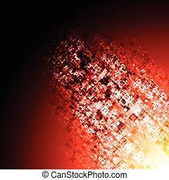 abstratos, vermelho, tech, fundo