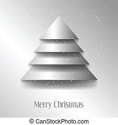 abstratos, vetorial, árvore, natal, ilustração