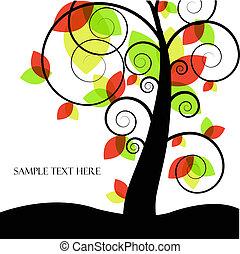 abstratos, vetorial, árvore