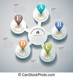 abstratos, vetorial, 3d, infographics