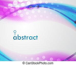 abstratos, vetorial, borrão, fundo, onda