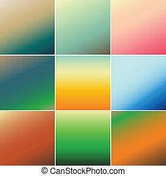 abstratos, vetorial, coloridos, fundo, obscurecido