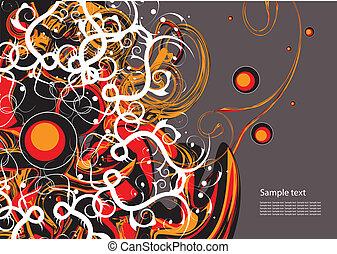 abstratos, vetorial, editable, fundo