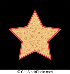 abstratos, vetorial, estrela, ícone