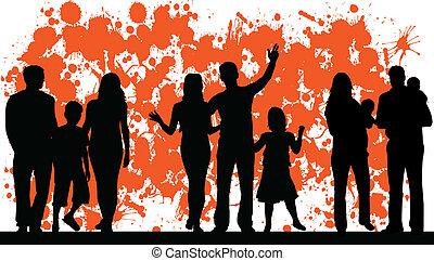 abstratos, vetorial, família