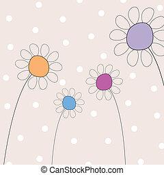 abstratos, vetorial, flores