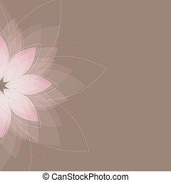 abstratos, vetorial, flowers., ilustração