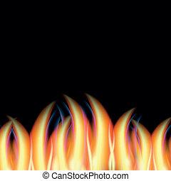 abstratos, vetorial, fogo