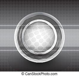 abstratos, vetorial, fundo, círculo, tecno
