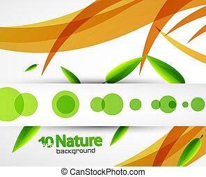 abstratos, vetorial, fundo, natureza