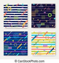 abstratos, vetorial, jogo, fundo