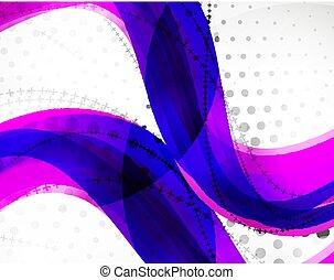 abstratos, vetorial, linha, fundo, onda