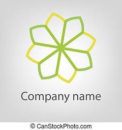 abstratos, vetorial, logotipo, ícone, concept., logotype, modelo, para, marcar, e, projeto incorporado
