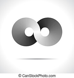 abstratos, vetorial, logotipo, desenho, template., discoteca, símbolo