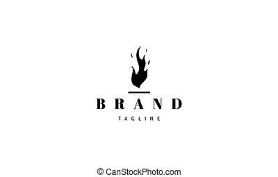 abstratos, vetorial, logotipo, imagem, fire.