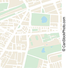 abstratos, vetorial, mapa cidade, ou, plano