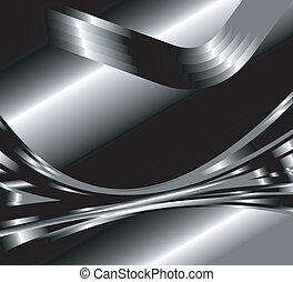 abstratos, vetorial, metal, fundo