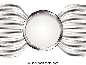 abstratos, vetorial, metal, prata, fundo