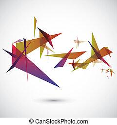 abstratos, vetorial, modelo, geométrico
