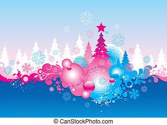abstratos, vetorial, natal, fundo