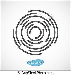 abstratos, vetorial, negócio, logotipo, elemento