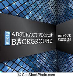 abstratos, vetorial, perspectiva, fundo, rhombus