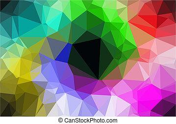 abstratos, vetorial, polígono, fundo