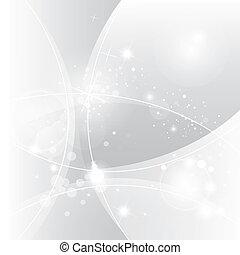 abstratos, vetorial, prata, fundo
