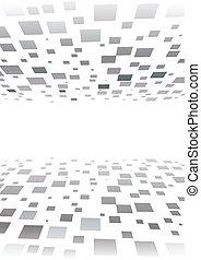 abstratos, vetorial, quadrado, fundo