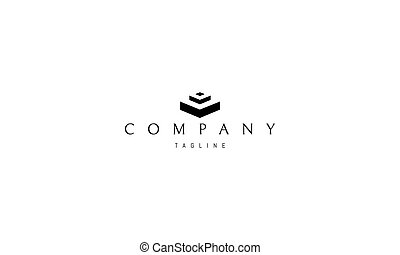 abstratos, vetorial, steps., logotipo, imagem